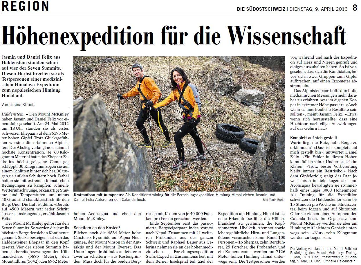 Die Südostschweiz 04-13