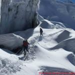 109 climbing icy corner